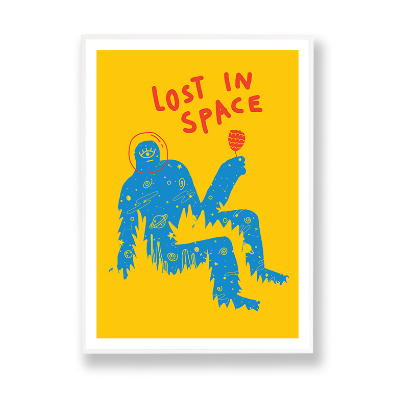 Lost in Space Marlene Canto marco blanco margen