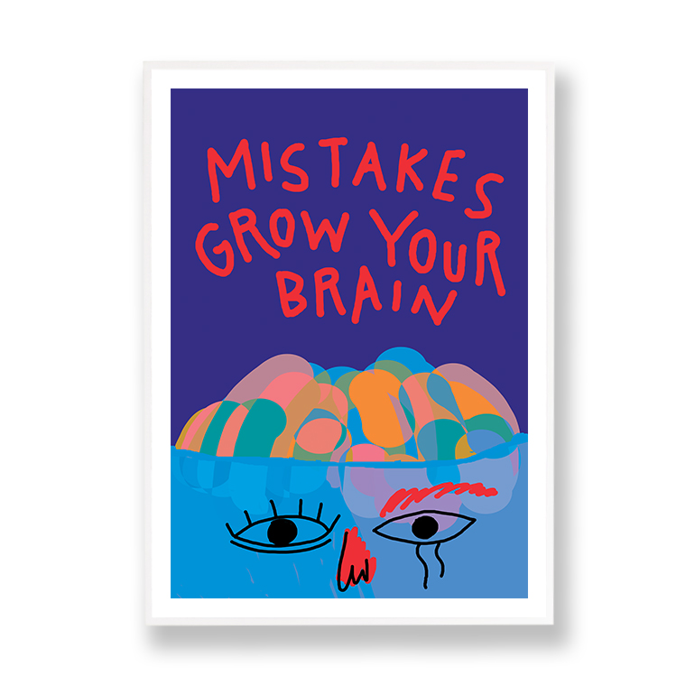 Mistakes grow your brain Marlene Canto marco blanco margen