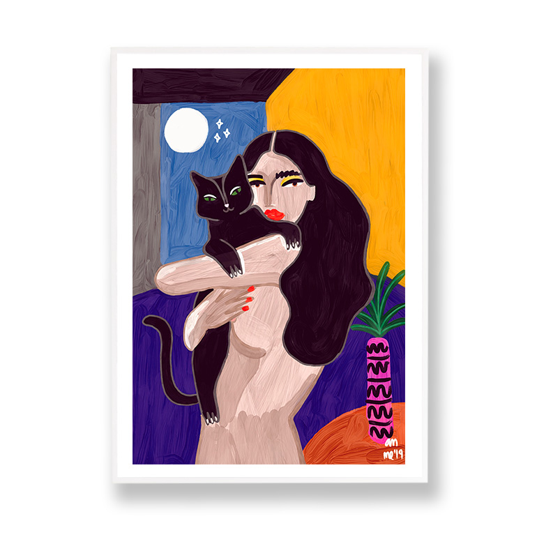 Cat Lover Ana Clerici marco blanco margen