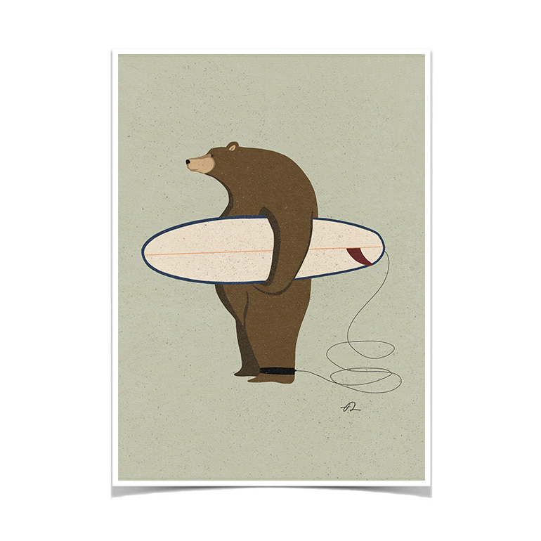Surfing Grizzly Fabian Lavater Lamina