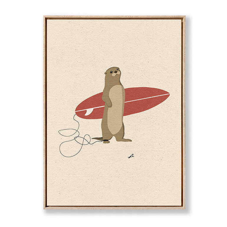 Surfing Otter Fabian Lavater lienzo marco roble