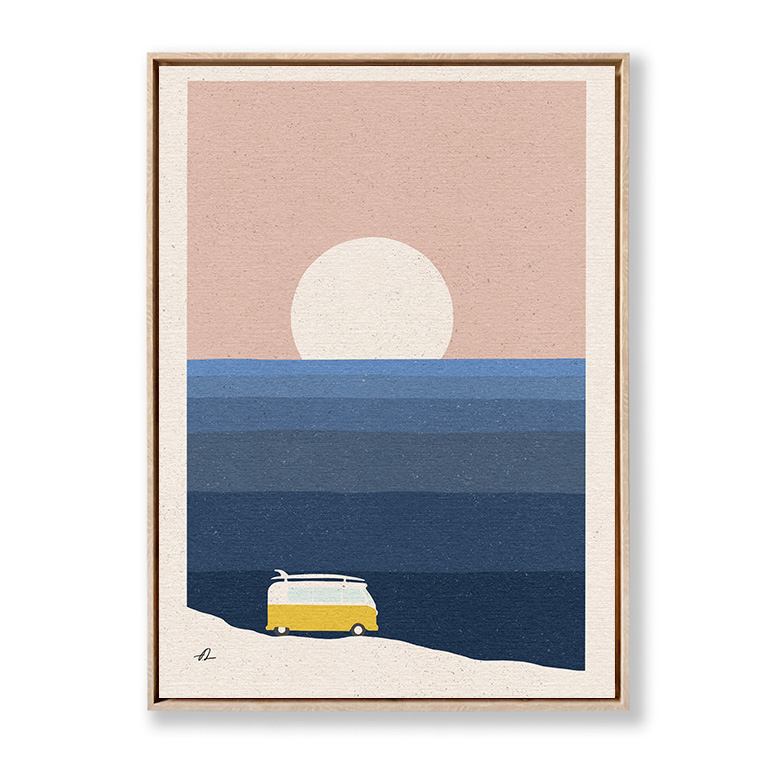 Vanlife by the ocean Fabian Lavater lienzo marco roble