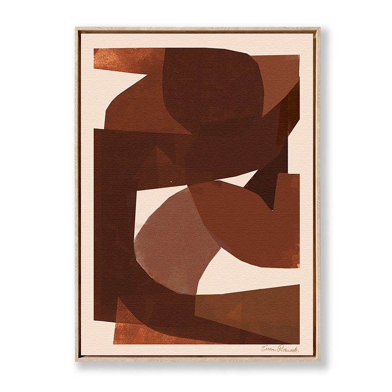 Brown Shapes Sissan Richardt lienzo marco roble
